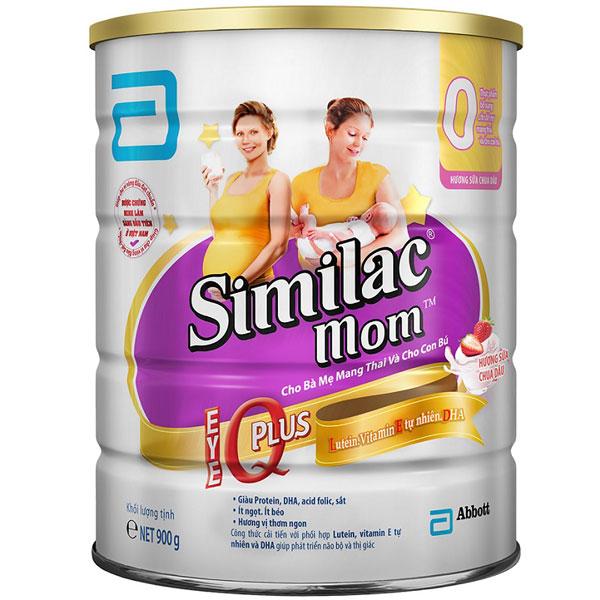 sữa cho mẹ mang thai similac mom iq hương sữa chua dâu lon 900g