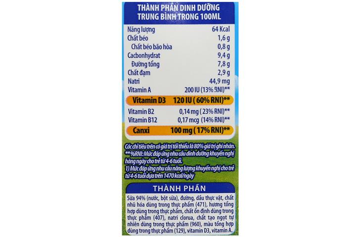 sữa tiệt trùng cô gái hà lan cao khỏe hương vị dâu hộp 170ml