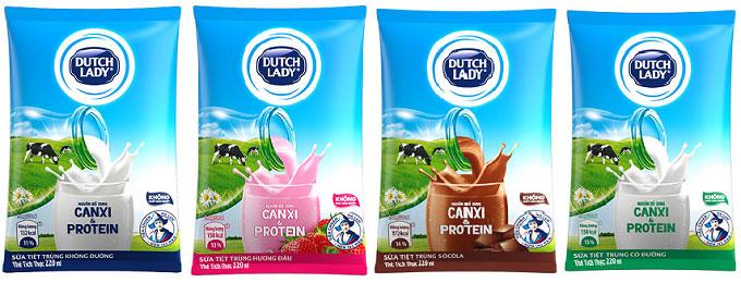 Sữa tiệt trùng Cô Gái Hà Lan vị Socola, bịch 220ml.