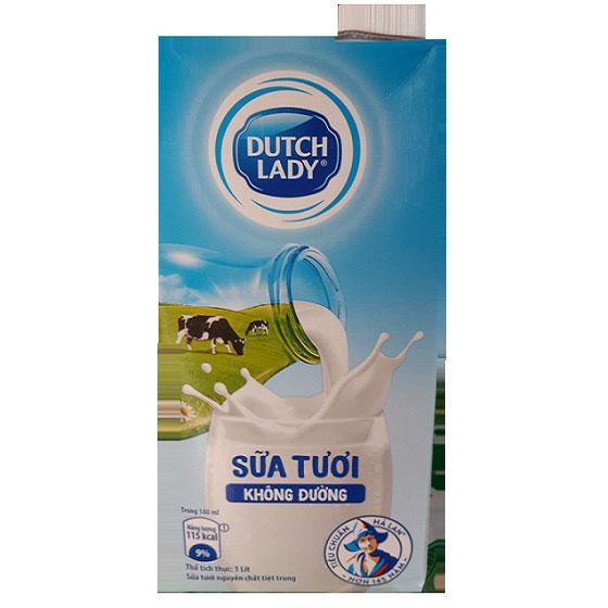 Sữa tươi Cô Gái Hà Lan không đường hộp 1 lít