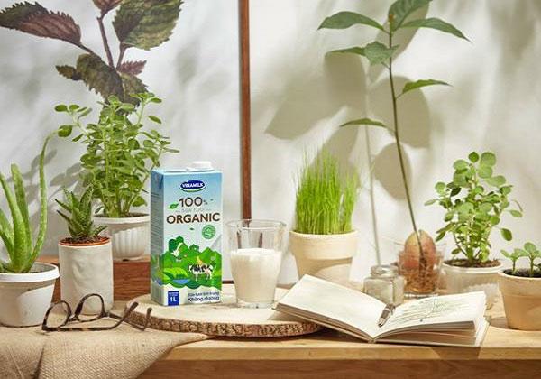 Sữa tươi Vinamilk Organic không đường, hộp 1 Lít
