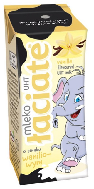 sữa tươi nhập khẩu Ba Lan Laciate hương vani hộp 200ml