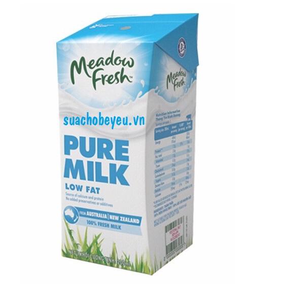 sữa tươi meadow fresh ít béo hộp 200ml