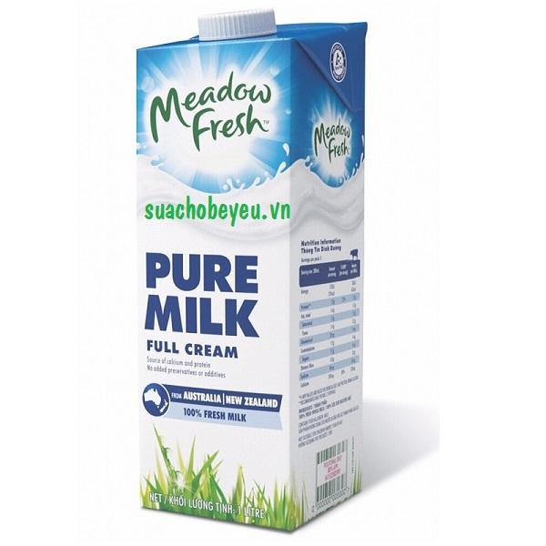 sữa tươi nguyên kem meadow fresh hộp 1 lít