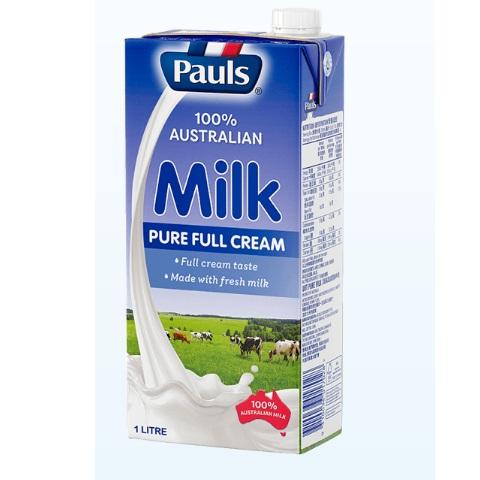 sữa tươi nguyên kem Pauls nhập khẩu Úc hộp 1 lít