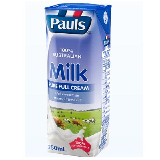 sữa tươi nguyên kem Pauls nhập khẩu Úc hộp 250ml