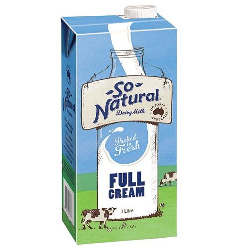 Sữa tươi nguyên kem So Natural Úc hộp 1 lít