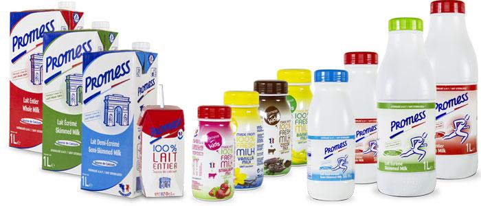 thùng sữa tươi tách béo Lecoq nhập khẩu Pháp chai 1 lit
