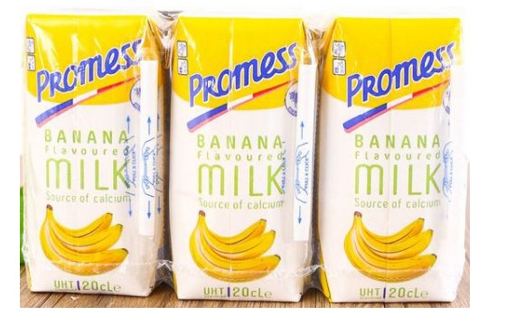sữa tươi Promess hương chuối nhập khẩu pháp hộp 200ml