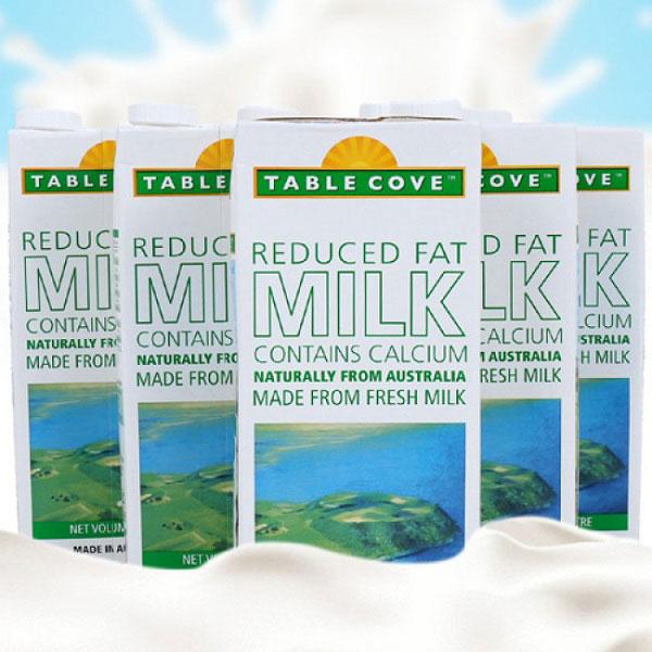 Sữa tươi table cove Úc ít béo, bổ sung canxi hộp 1 lít
