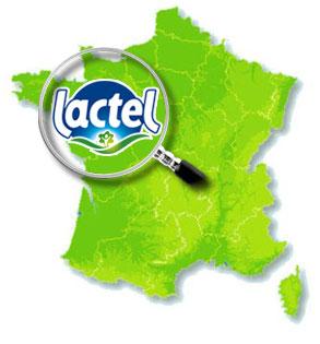 sữa tươi nguyên kem Lactel Pháp hộp 1 lít