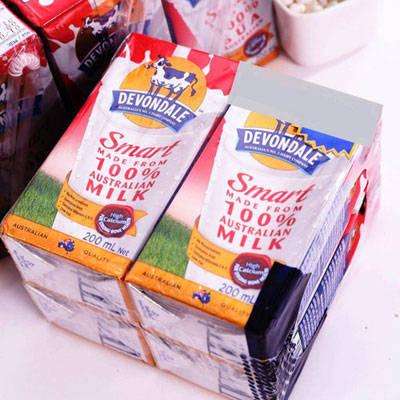 sữa tươi tiệt trùng Devondale Smart Úc bổ sung canxi hộp 200ml