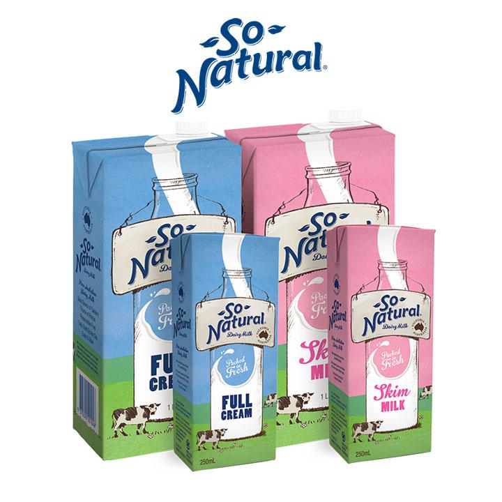 Sữa tươi tách béo So Natural Úc hộp 1 lít