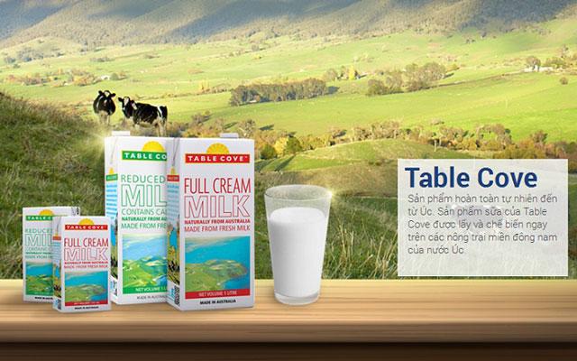 Sữa tươi nguyên kem table cove nhập khẩu Úc hộp 200ml
