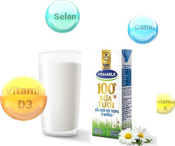 sữa tươi tiệt trùng Vinamilk hương socola hộp 110ml