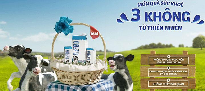 sữa tươi tiệt trùng vinamilk không đường hộp 1 lit