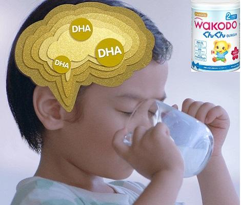 Sữa bột Wakodo gungun số 2 lon 830g cho trẻ 1-3 tuổi