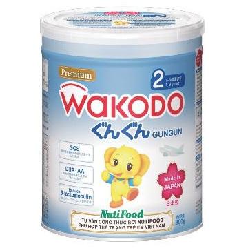 sữa wakodo số 2 lon nhỏ 300g cho trẻ 1-3 tuổi