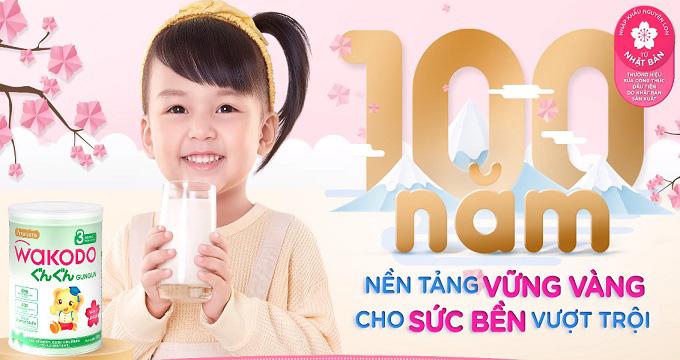 Thùng Sữa Wakodo Gungun số 3, trẻ trên 3 tuổi, 830g