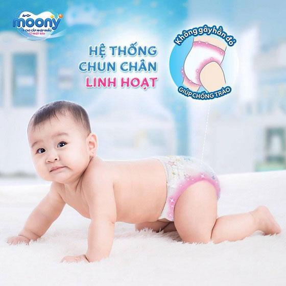 tã quần moony bé trai, size L 44 miếng cho trẻ 9-14kg