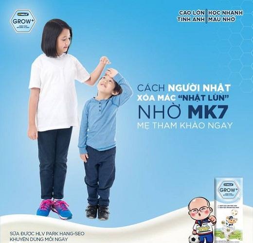 Sữa Dinh Dưỡng VPMilk Grow+ vị chuối  Hộp 180ml