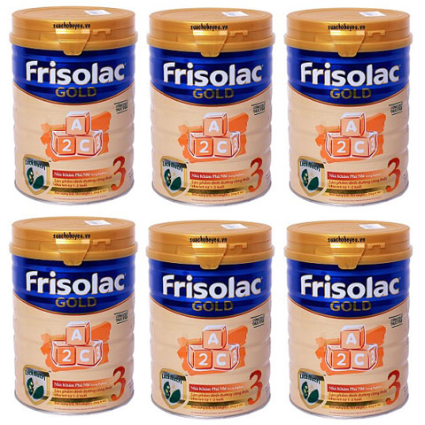 thùng sữa frisolac gold 3 lon 1.5kg cho trẻ 1-2 tuổi