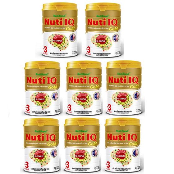 thùng sữa nuti iq gold step 3 hộp 900g cho trẻ 1-2 tuổi