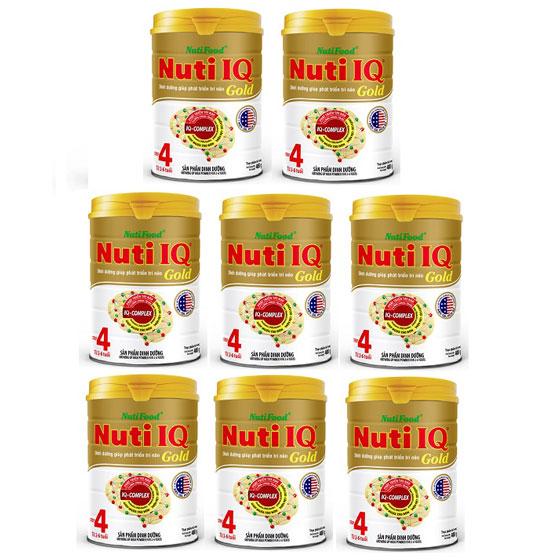 thùng sữa nuti iq gold step 4 hộp 900g cho trẻ 2-6 tuổi