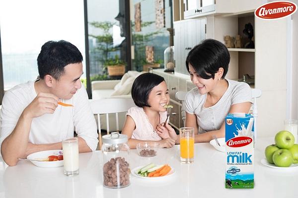 Thùng sữa tươi ít béo Avonmore Ireland hộp 200ml