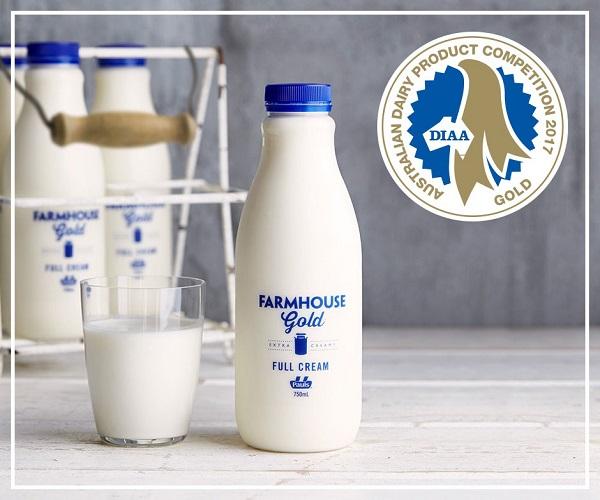 sữa tươi nguyên kem Pauls Farmhouse Gold 4.5% béo hộp 1 lít