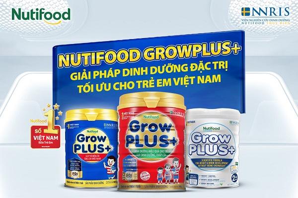 Sữa bột pha sẵn Nuti Grow Plus màu xanh hộp 110ml