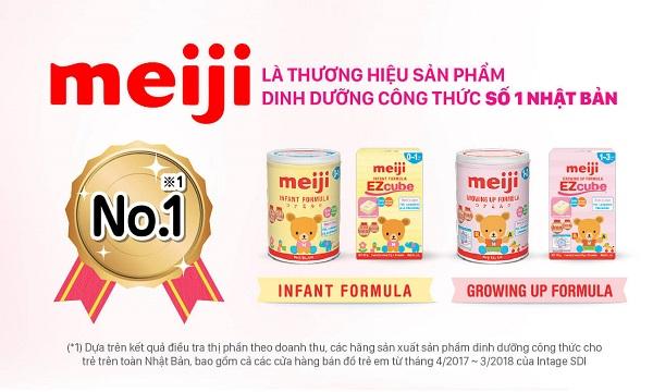 Sữa Meiji Infant Formula nhập khẩu cho trẻ 0-1 tuổi lon 800g