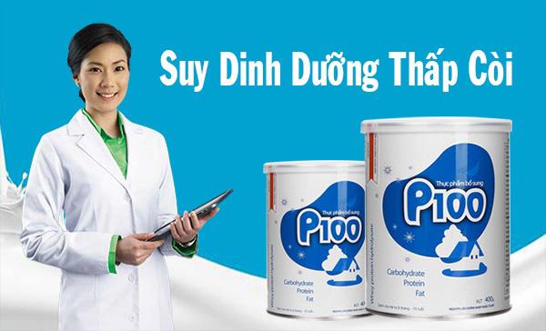 sữa bột P100 cho trẻ biếng ăn suy sinh dưỡng, ốm yếu 1-10 tuổi lon 900g