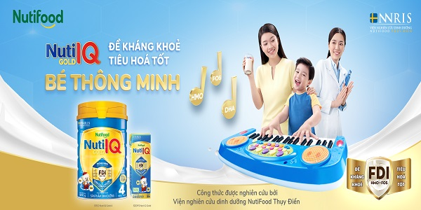 Sữa Nuti IQ Gold Step 3 lon 900g cho trẻ 1 - 2 tuổi