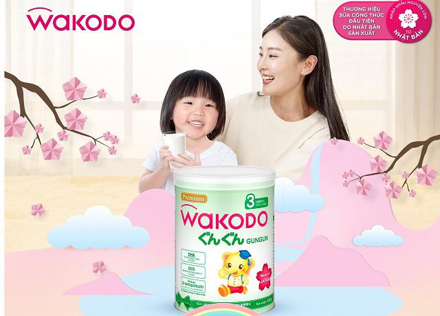 Sữa Nhật Wakodo Gungun số 3, trẻ trên 3 tuổi, lon 830g